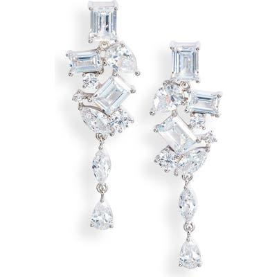 Nordstrom Cubic Zirconia Cluster Earrings