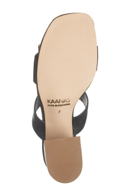 Image of Kaanas Syros Double Strap Block Heel Sandal