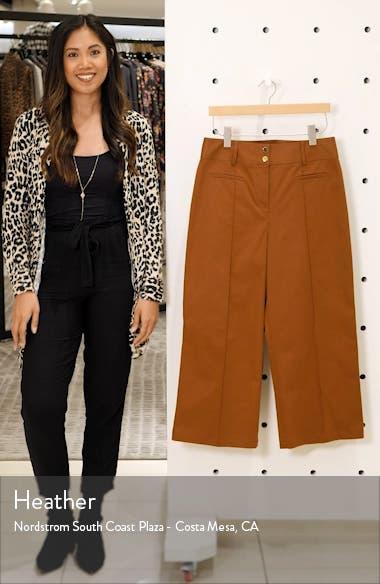 Pop Wide Leg Crop Stretch Cotton Pants, sales video thumbnail