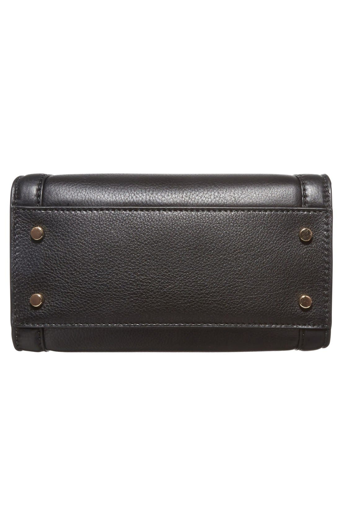 ,                             'cobble hill - small adrien' leather satchel,                             Alternate thumbnail 6, color,                             001