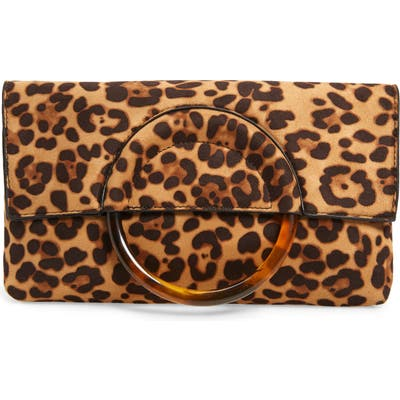 Bp. Ring Handle Classic Clutch - Brown