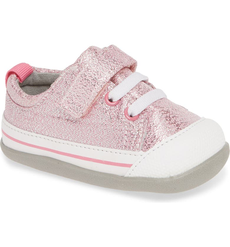 SEE KAI RUN Stevie II Sparkle Sneaker, Main, color, PINK GLITTER