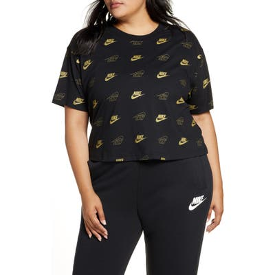 Plus Size Nike Sportswear Bff Shine Graphic Crop Tee