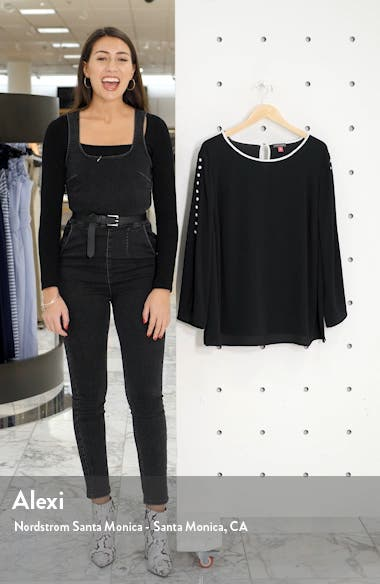 Button Split Sleeve Top, sales video thumbnail
