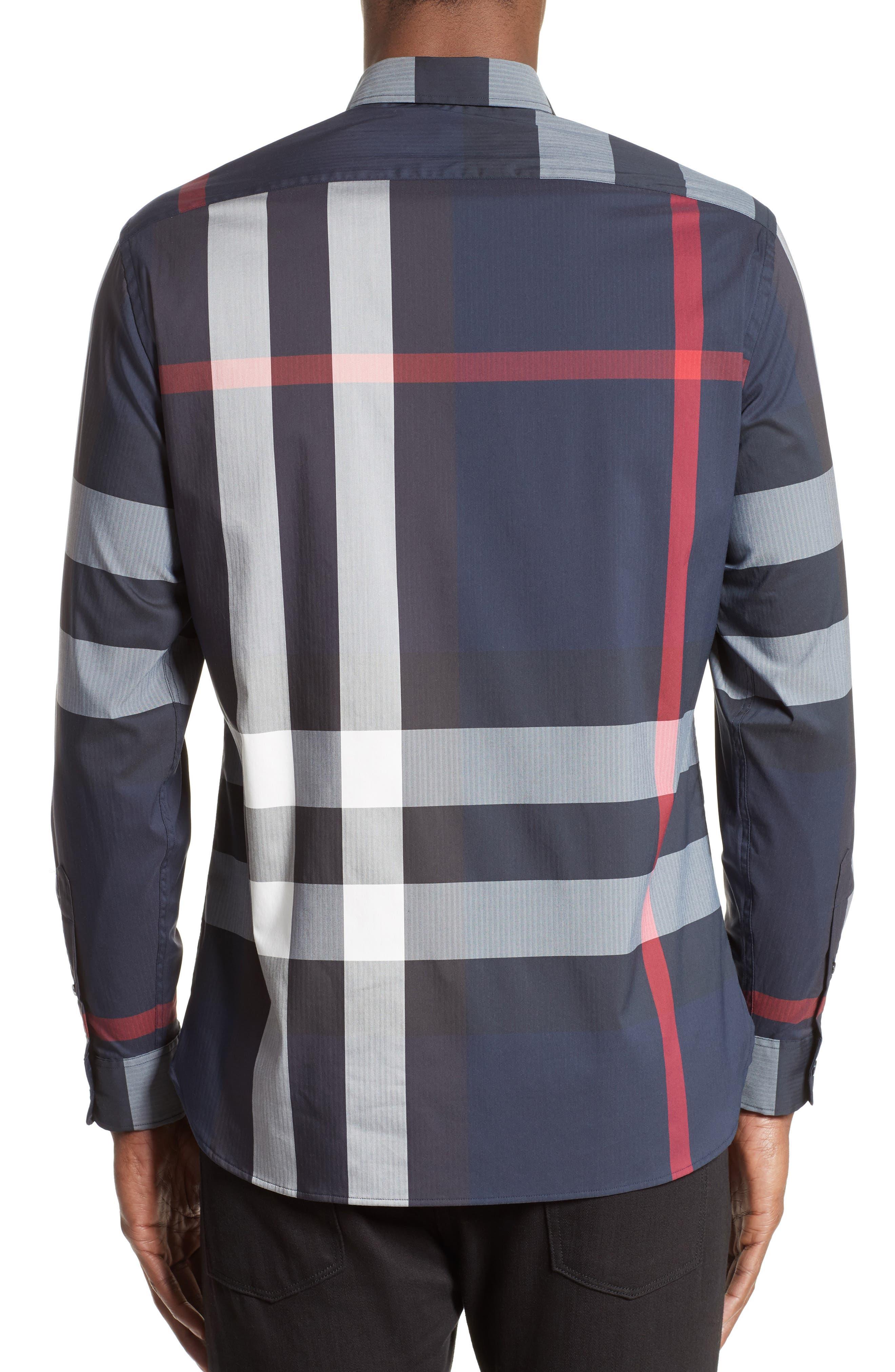 ,                             Thornaby Slim Fit Plaid Sport Shirt,                             Alternate thumbnail 25, color,                             410