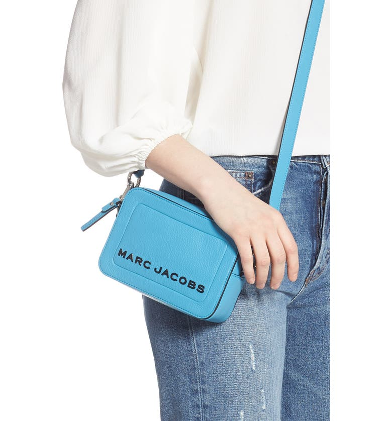 The Box Leather Crossbody Bag, Alternate, color, WINDY BLUE