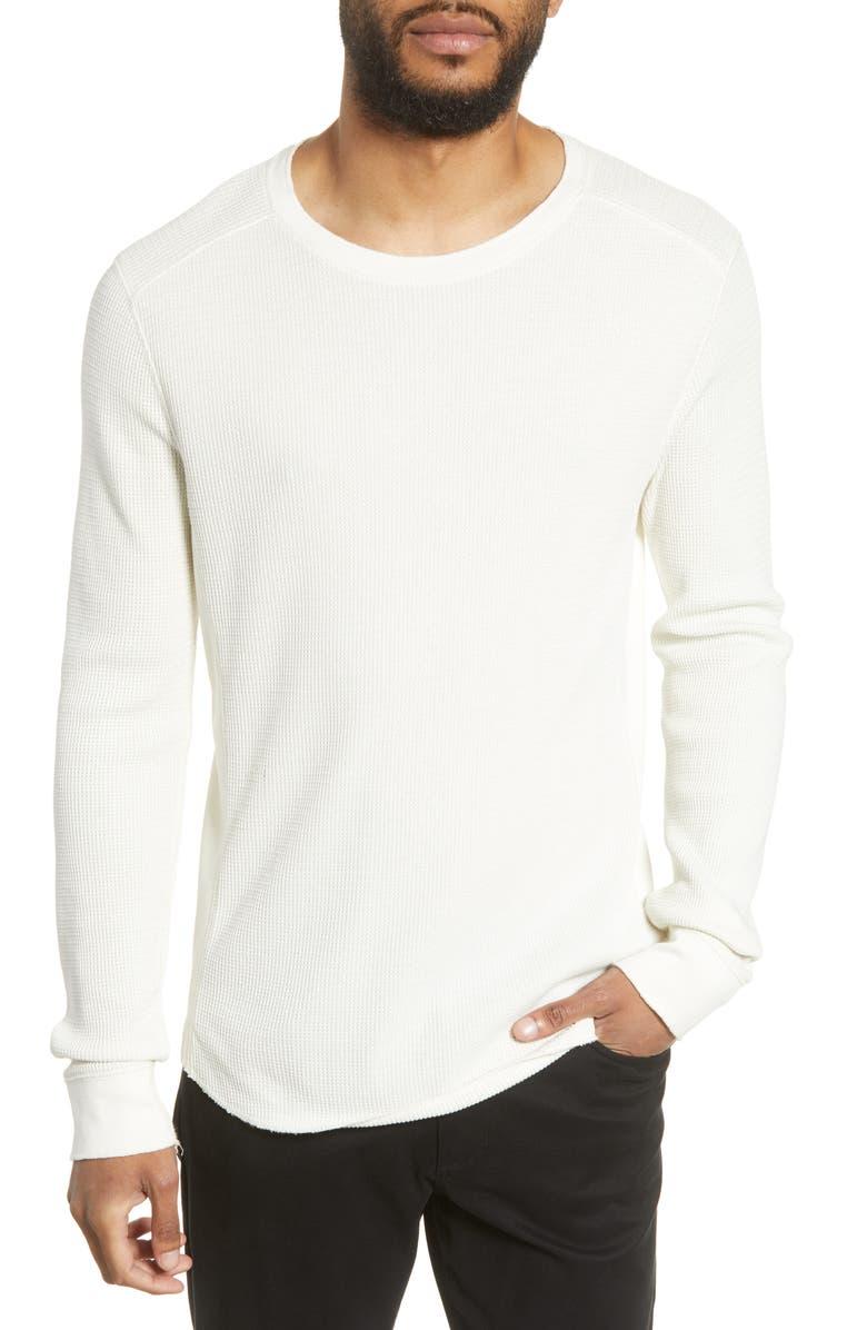 VINCE Regular Fit Thermal Knit Crewneck Sweatshirt, Main, color, LECHE