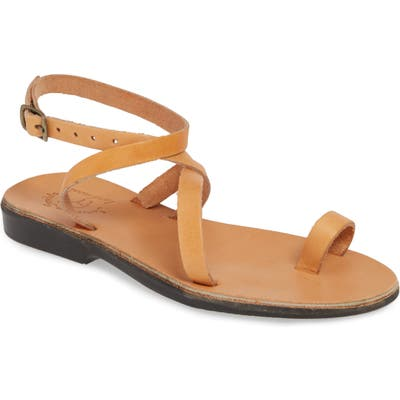 Jerusalem Sandals Mara Toe Loop Sandal, Beige