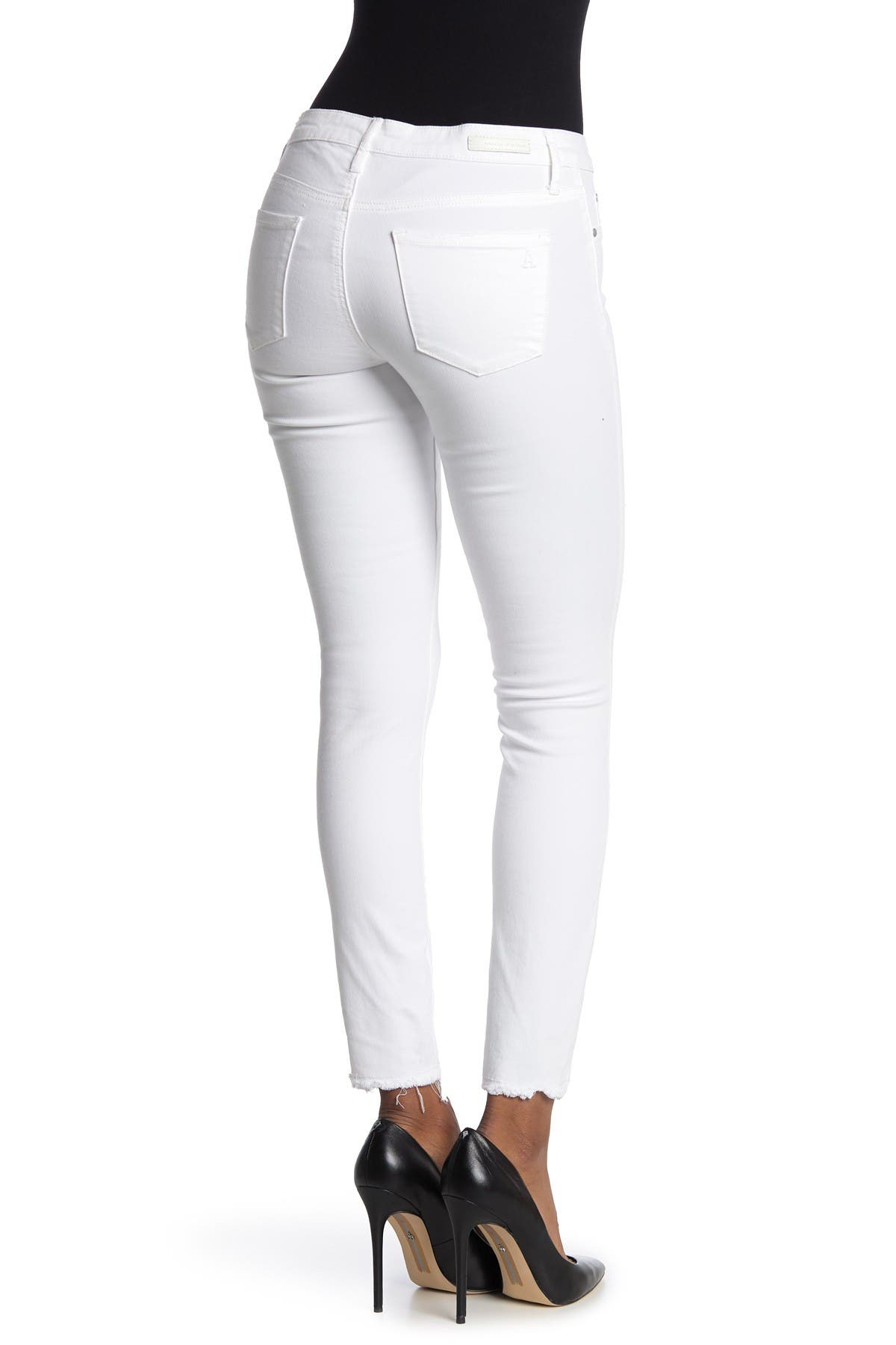 Image of Articles of Society Sarah Distressed Raw Hem Skinny Jeans