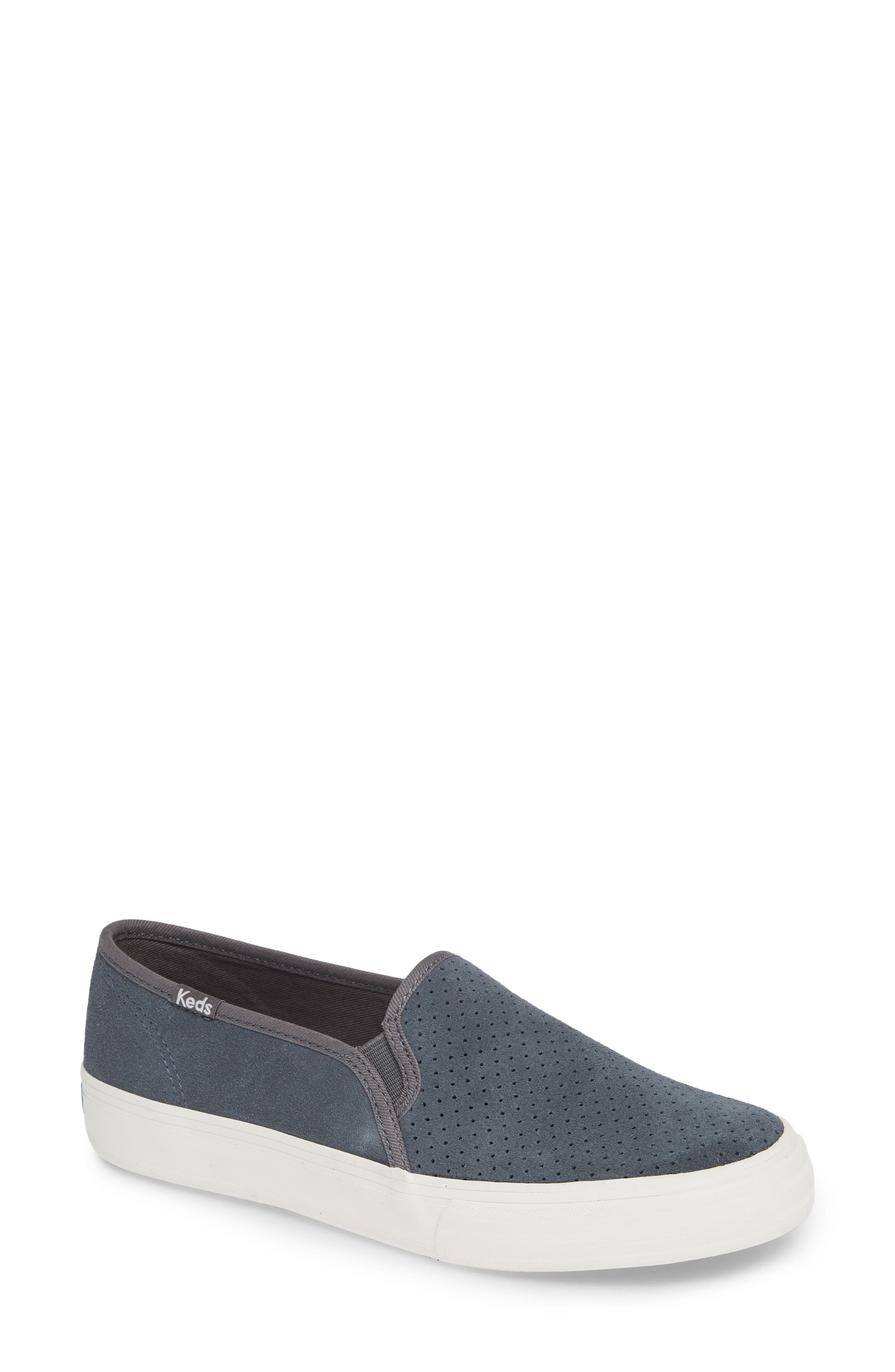 Keds Double Decker Perforated Slip-On Sneaker, Blue