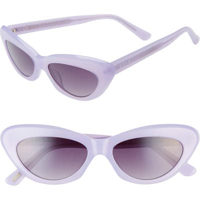 Diff Cleo 4m Cat Eye Sunglasses - Lilac/ Grey