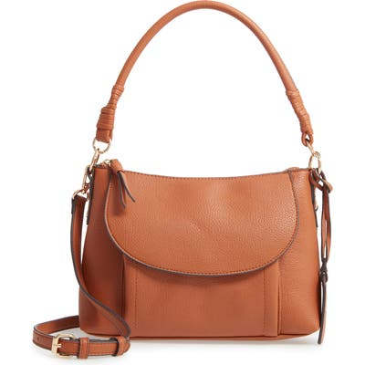 Sole Society Xaire Faux Leather Shoulder Bag - Brown