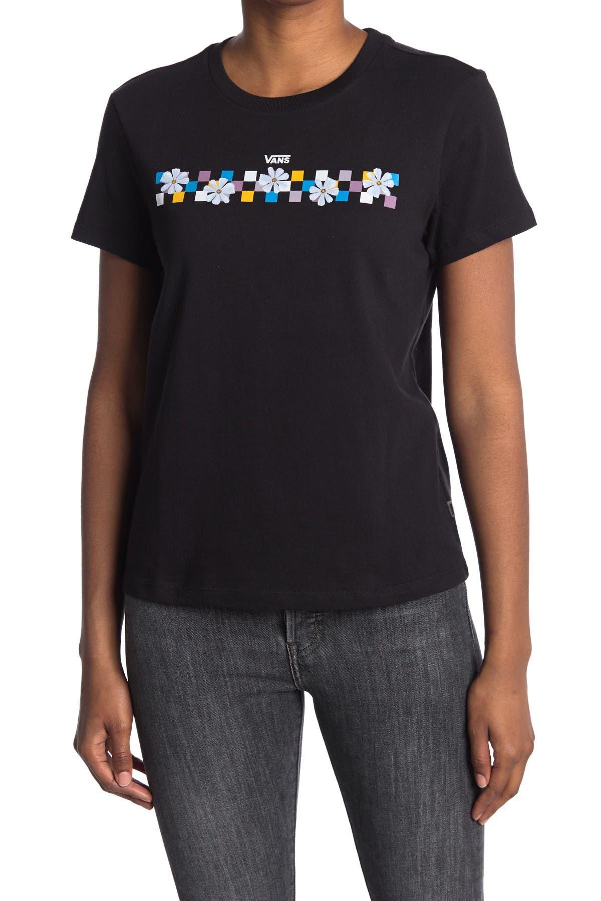 Image of VANS Flower Check Short Sleeve T-Shirt