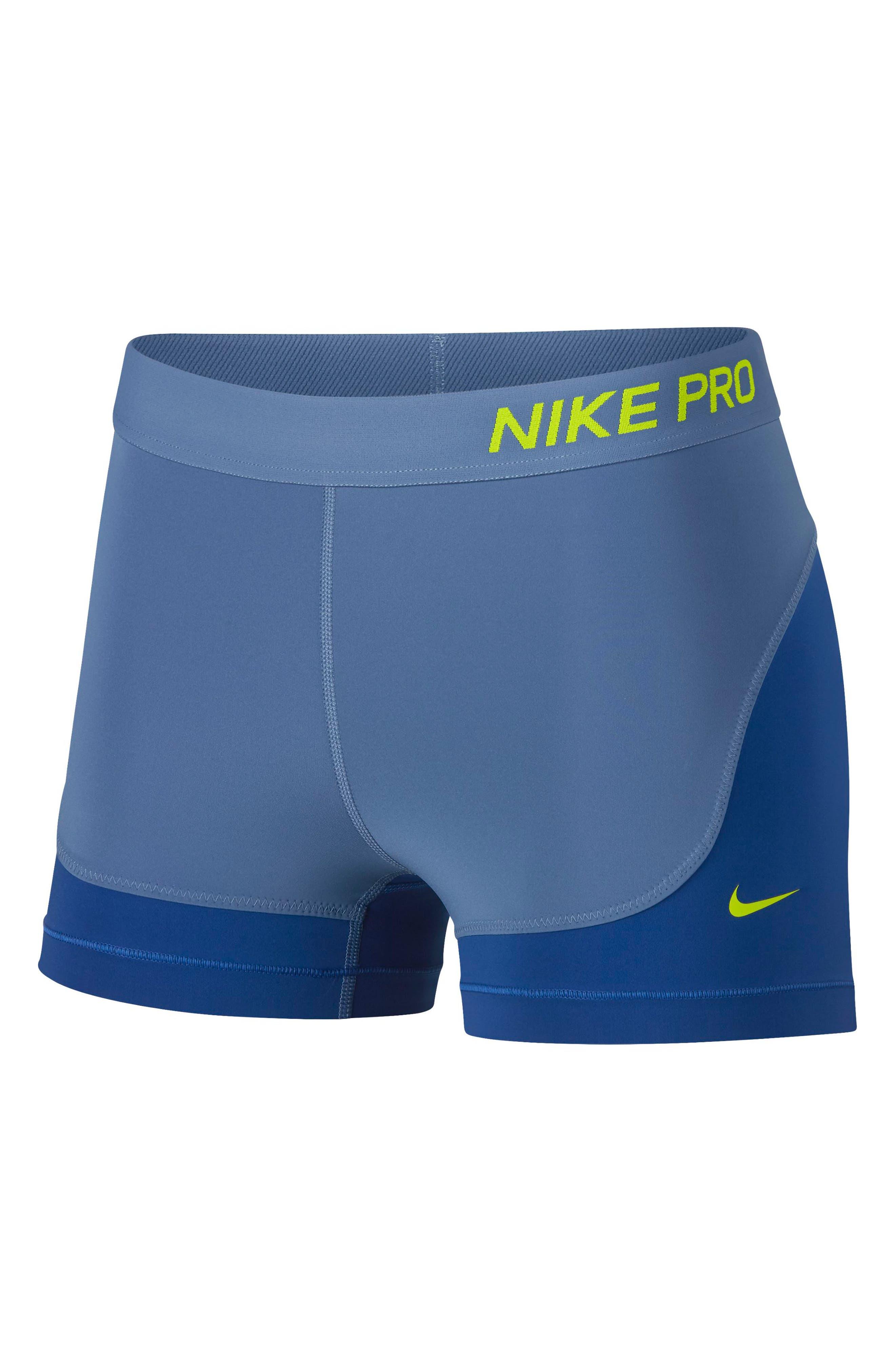 Nike Pro Compression Shorts, Blue