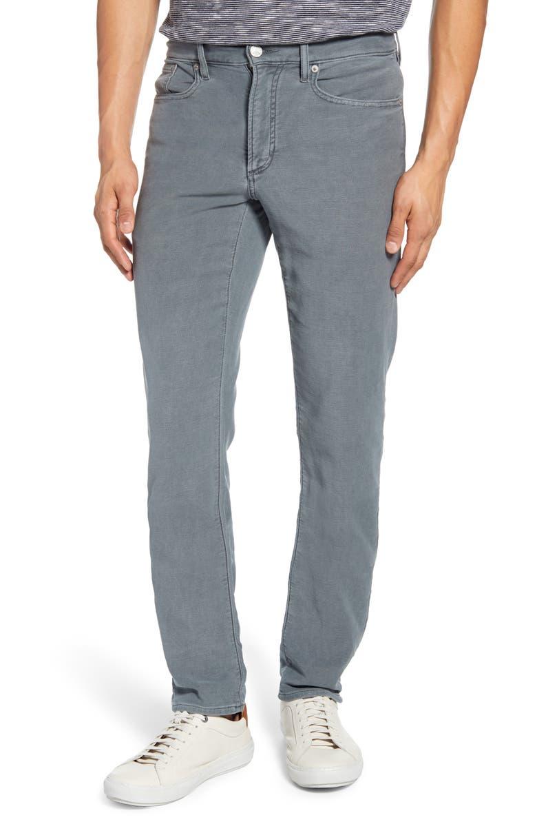 FAHERTY Stretch Terry 5-Pocket Pants, Main, color, SLATE