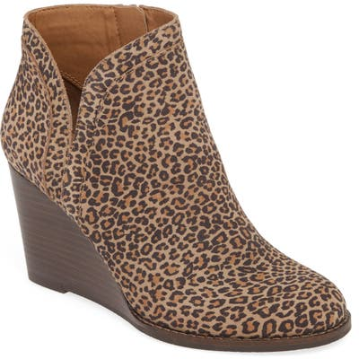 Lucky Brand Yimina Wedge Bootie, Brown