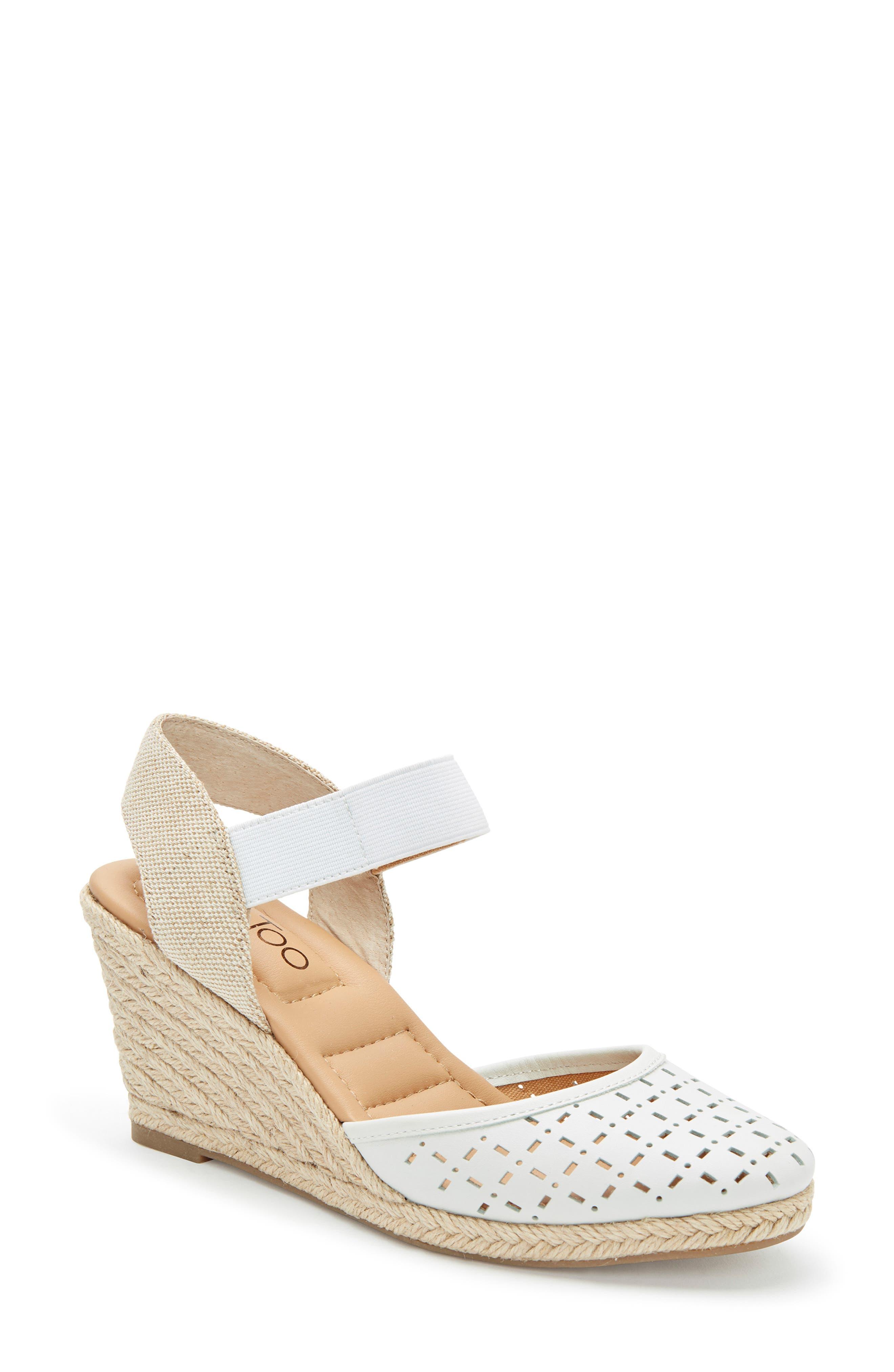 Me Too Bess Wedge Sandal, White