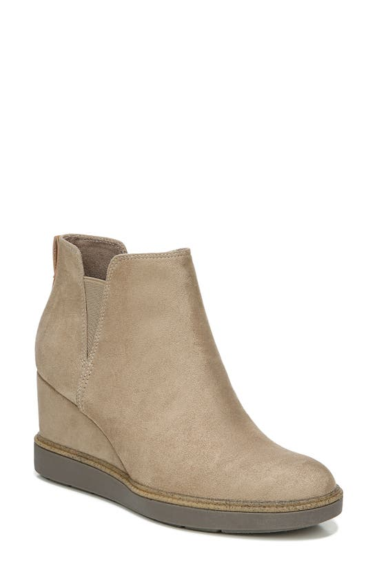 Dr. Scholl's Johnny Wedge Bootie In Wood Brown Fabric