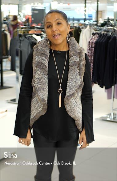 Drop Waist Herringbone Wool Blend Coat, sales video thumbnail
