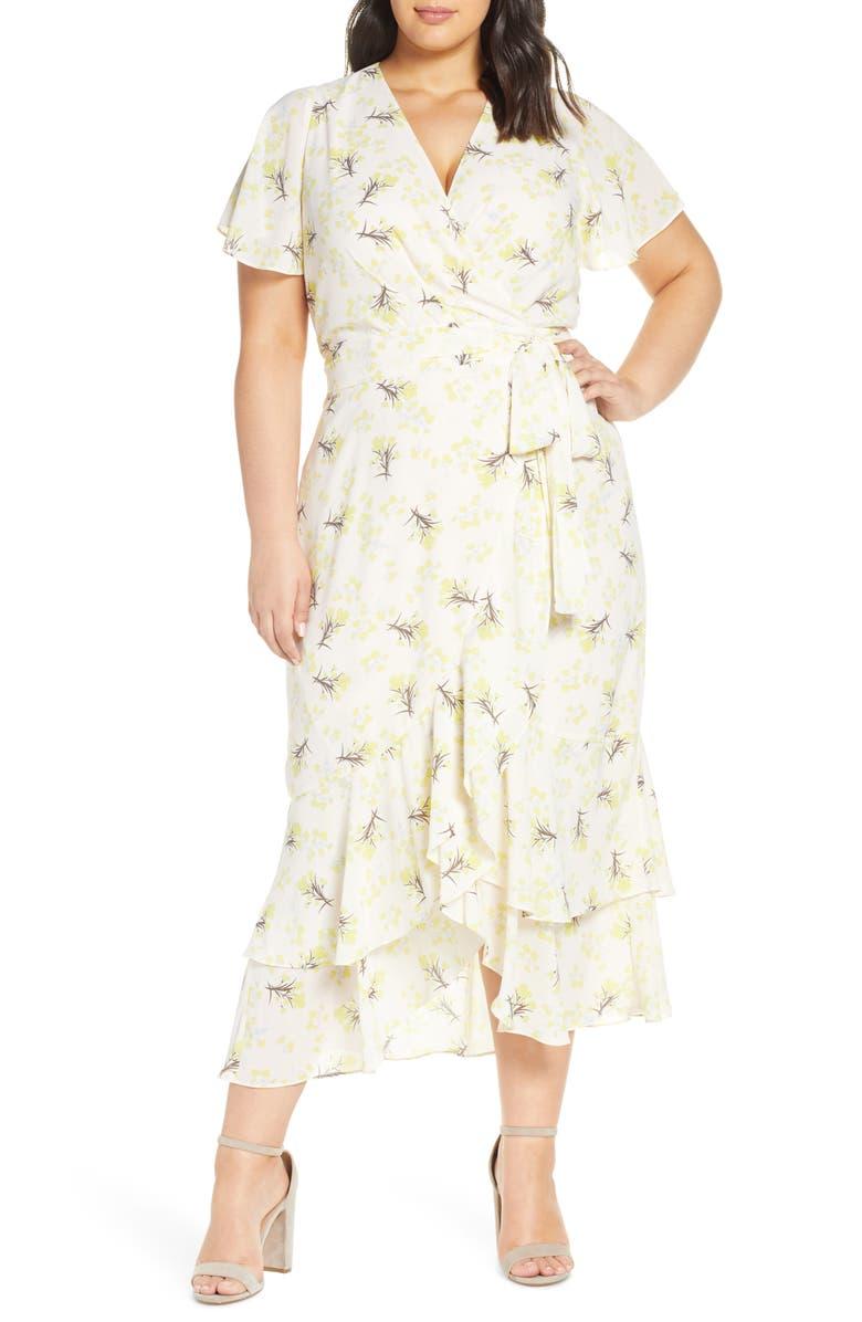 RACHEL RACHEL ROY Faux Wrap Midi Dress, Main, color, 254