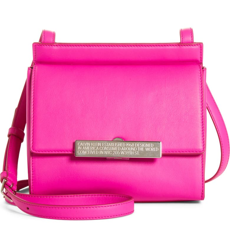 CALVIN KLEIN 205W39NYC Starr Leather Crossbody, Main, color, 670