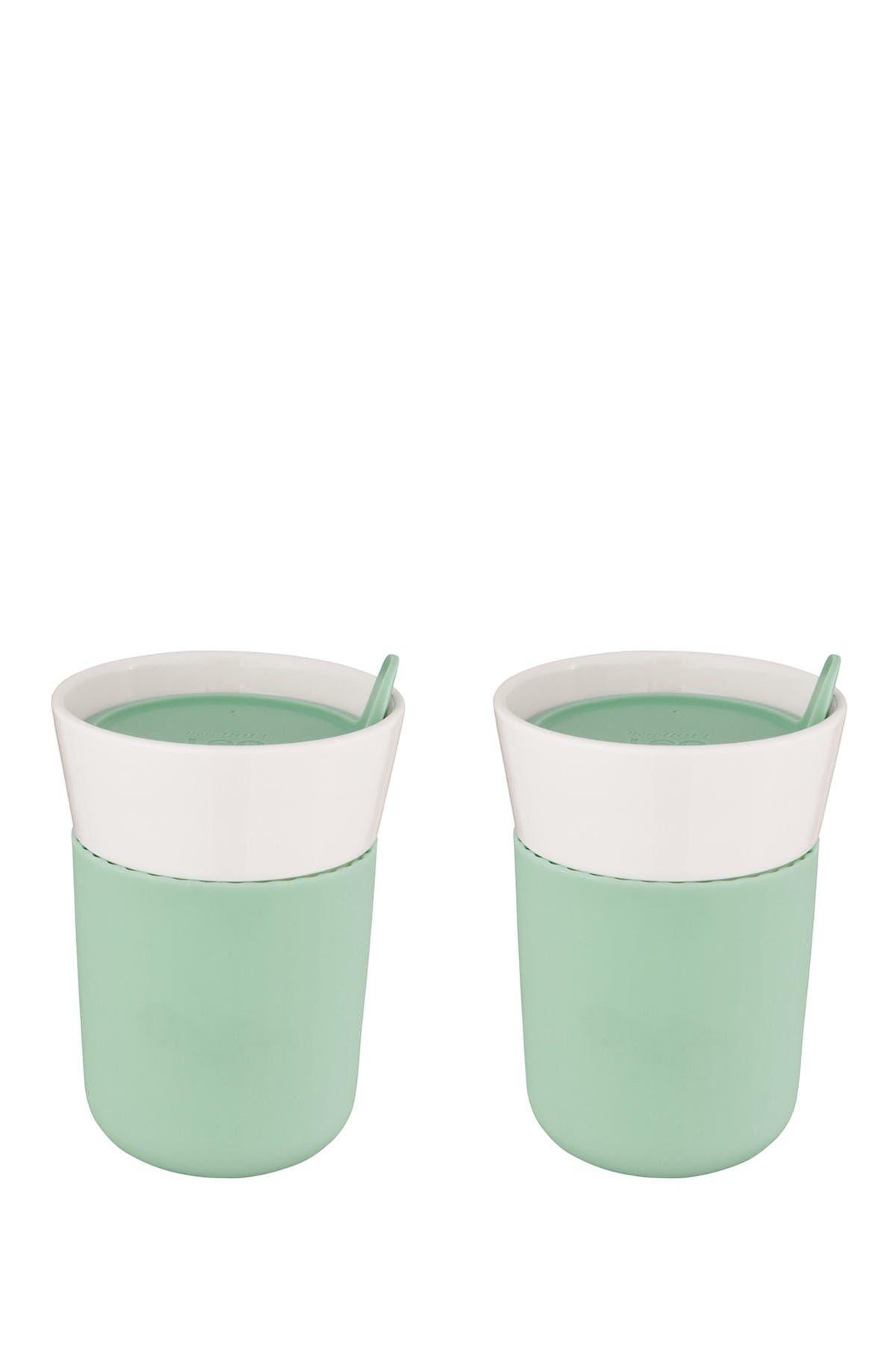 Image of BergHOFF Leo Green Porcelain Travel Mug - Set of 2
