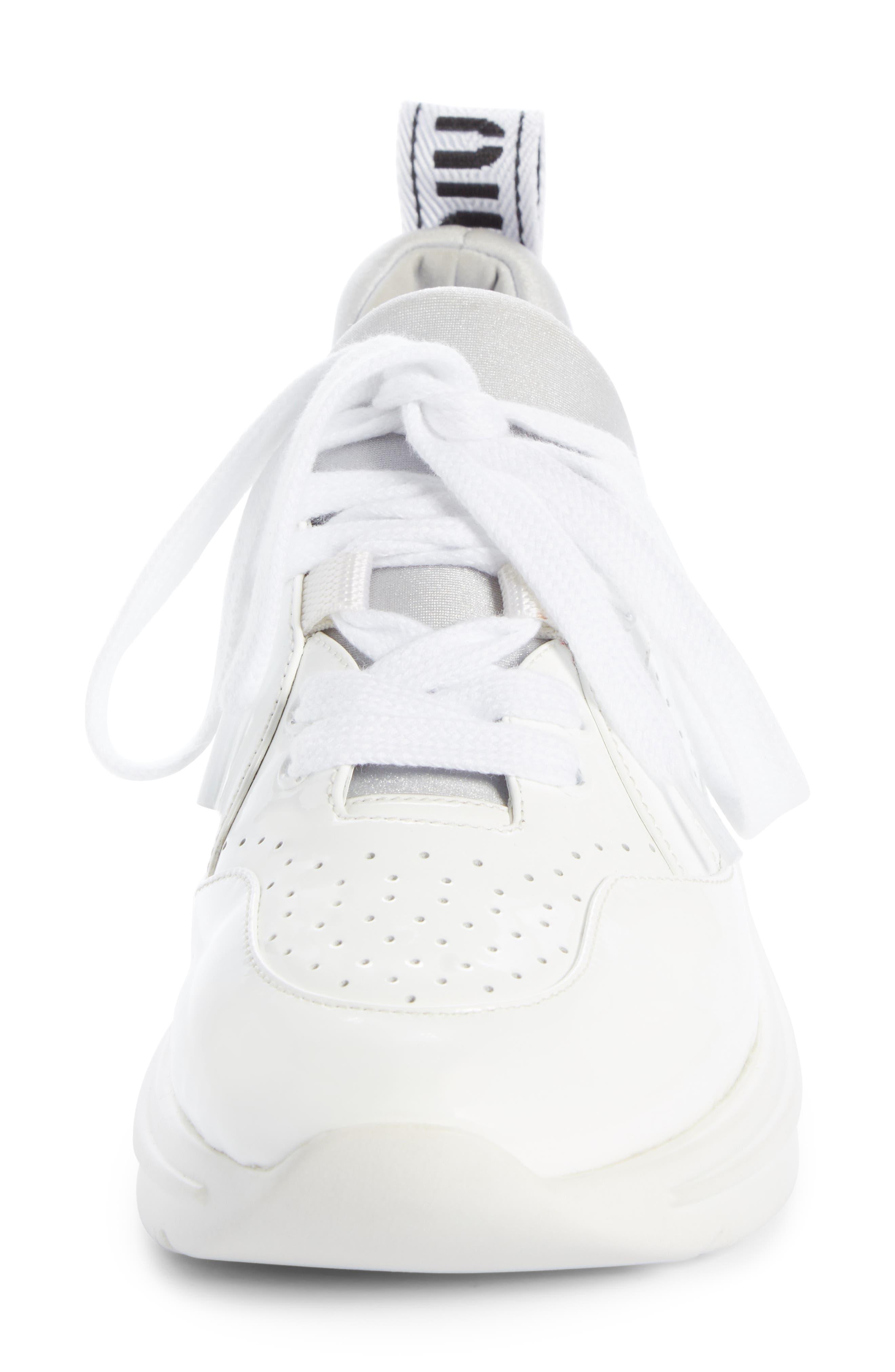 ,                             Logo Sole Sneaker,                             Alternate thumbnail 4, color,                             WHITE