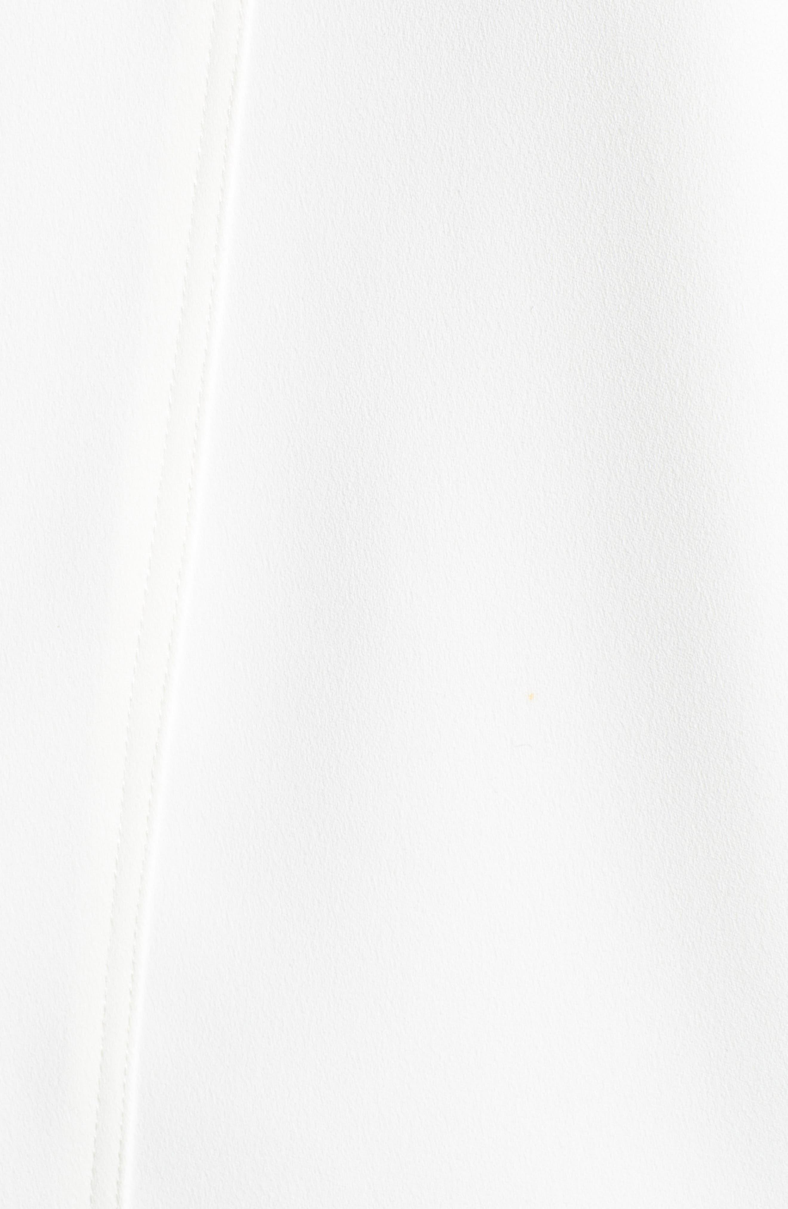 ,                             Crepe Blouson Hooded Jacket,                             Alternate thumbnail 6, color,                             WHITE