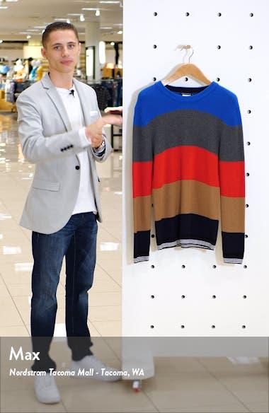 Stripe Regular Fit Cotton Sweater, sales video thumbnail