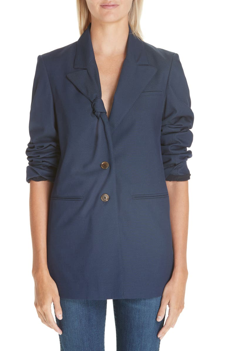 BY ANY OTHER NAME Knot Lapel Blazer, Main, color, NAVY