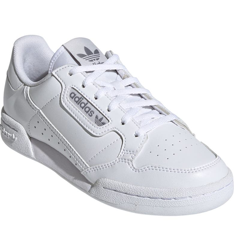 ADIDAS Continental 80 Sneaker, Main, color, WHITE/ WHITE/ GREY ONE