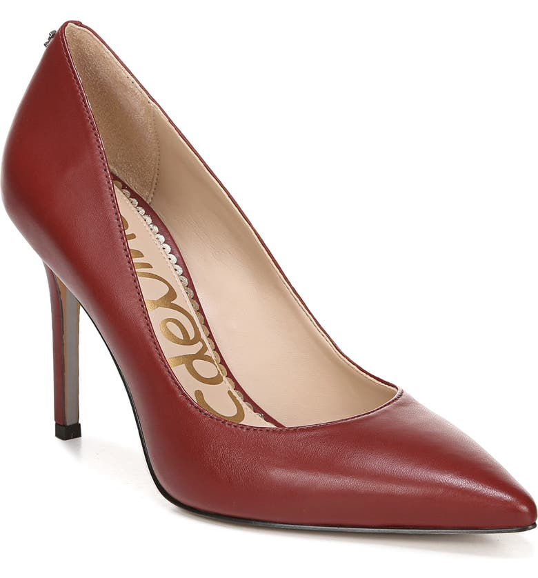 SAM EDELMAN Hazel Pointy Toe Pump, Main, color, SPICED MAHOGANY LEATHER