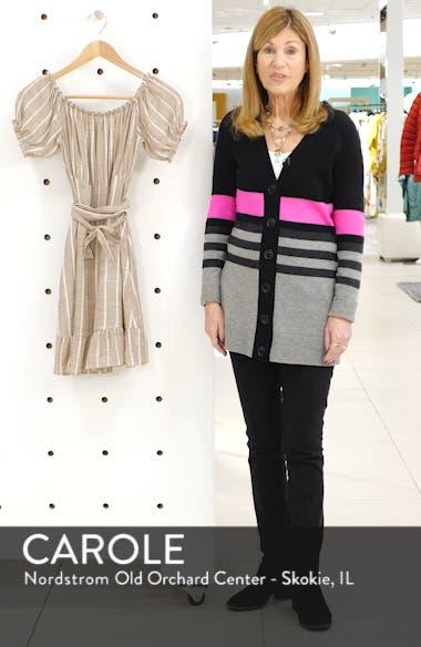 Stripe Off the Shoulder Minidress, sales video thumbnail