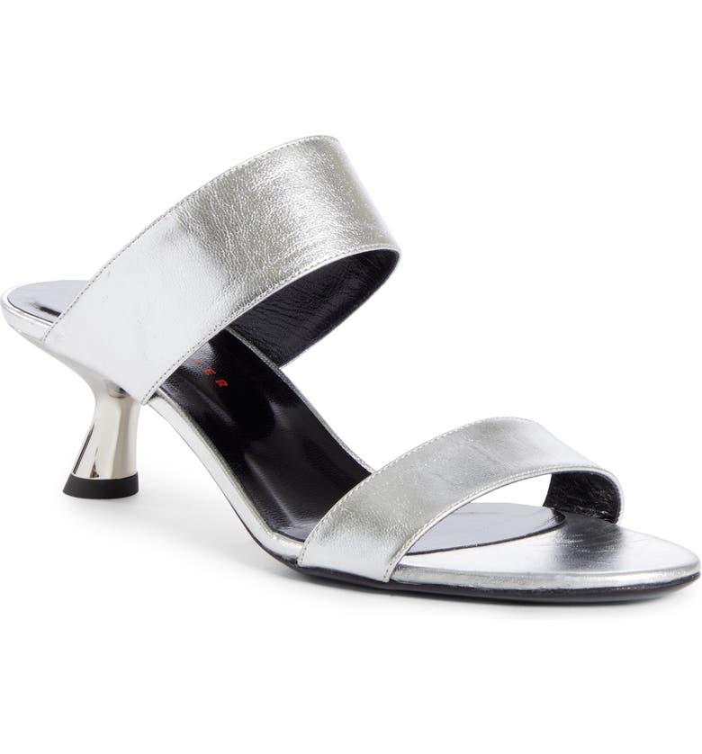 SIMON MILLER Tee Heel Sandal, Main, color, TINFOIL SILVER