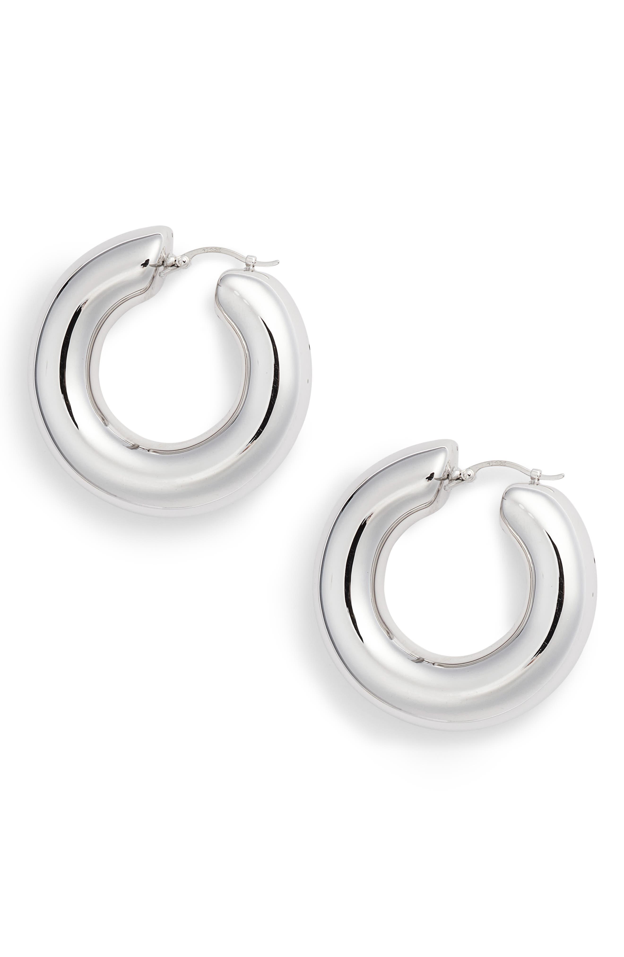 Extra Large Donut Hoop Earrings