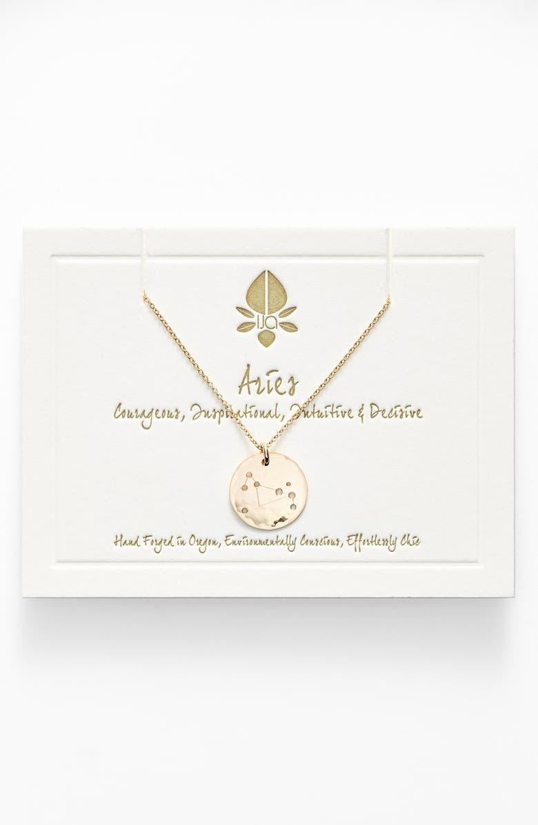 NASHELLE Ija 'Small Zodiac' 14k-Gold Fill Necklace, Main, color, 710