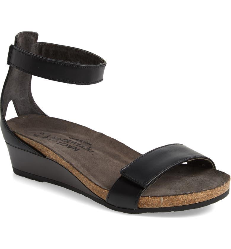NAOT Mermaid Sandal, Main, color, BLACK RAVEN
