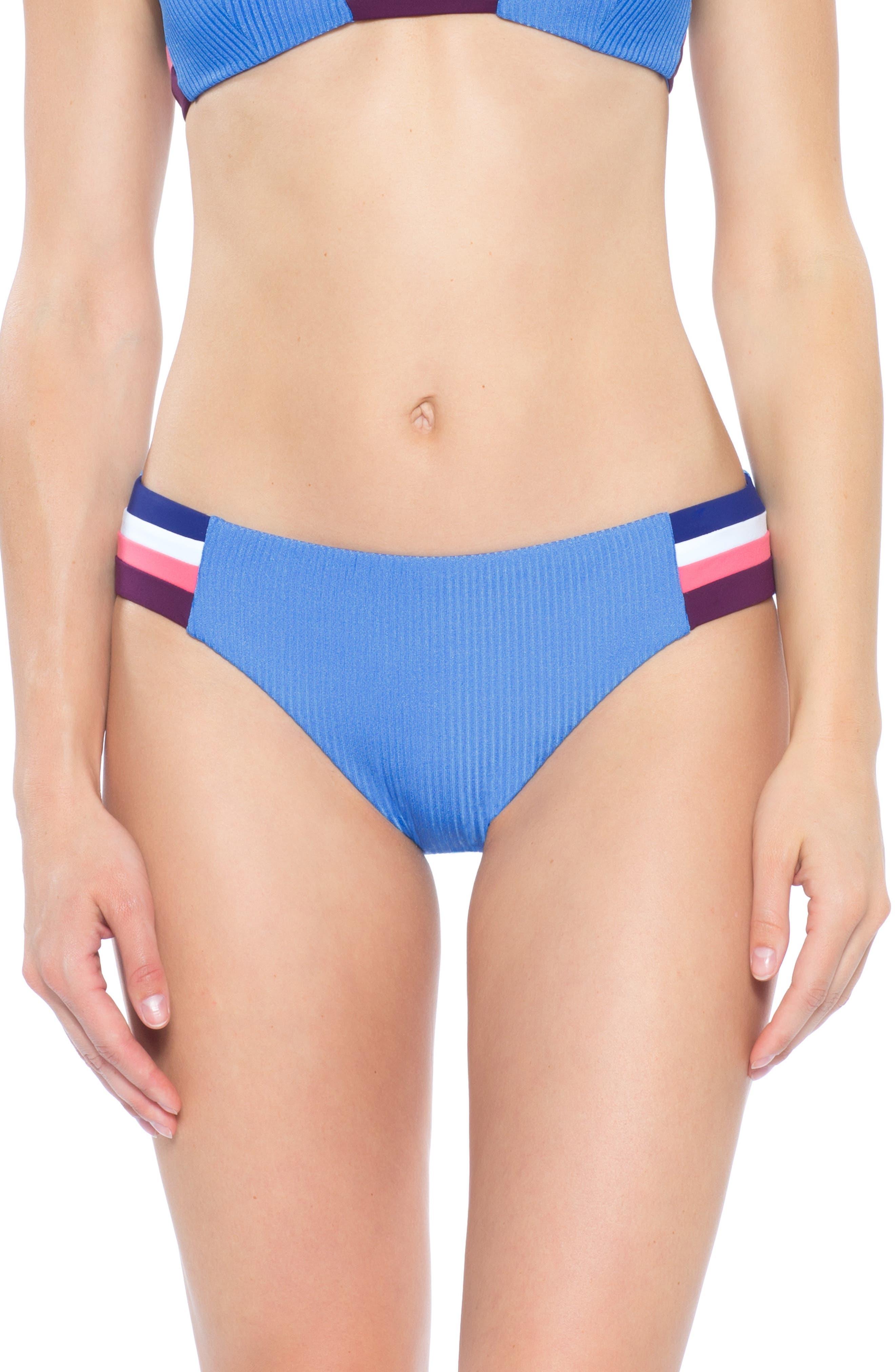 Becca Refine Bikini Bottoms, Blue