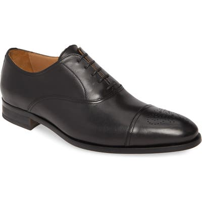 To Boot New York Ford Medallion Toe Oxford- Black