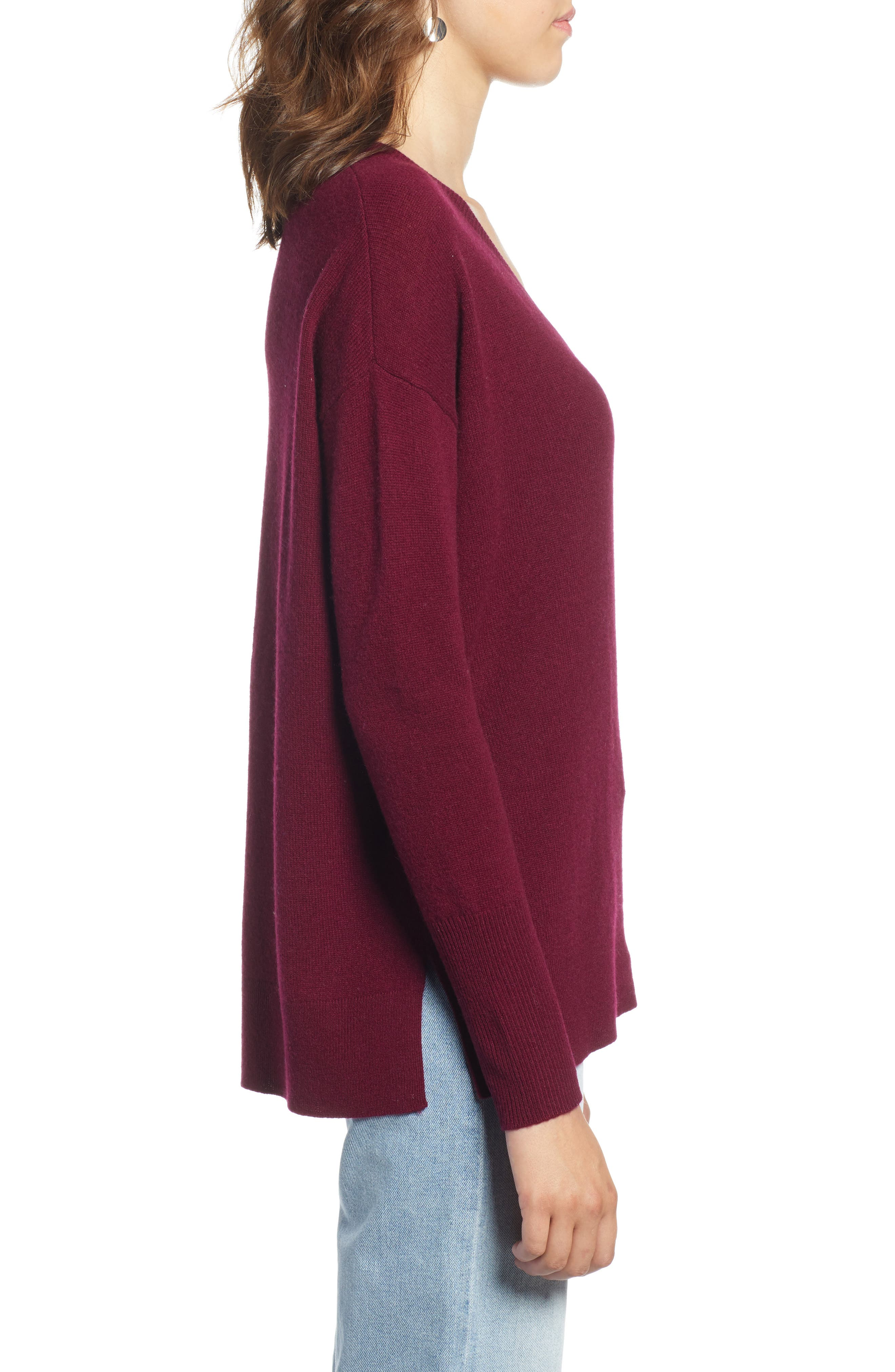 ,                             Relaxed V-Neck Cashmere Sweater,                             Alternate thumbnail 73, color,                             930