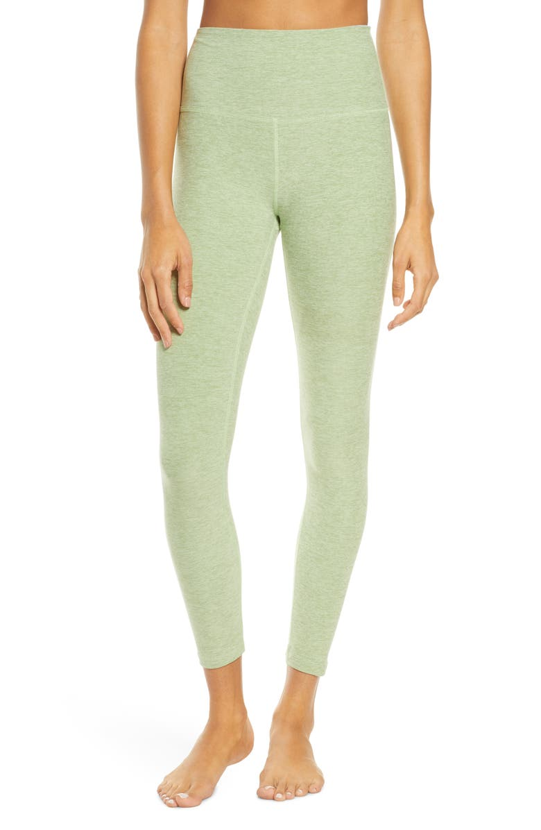 BEYOND YOGA Midi High Waist Leggings, Main, color, PALE PINE-GLADE GREEN