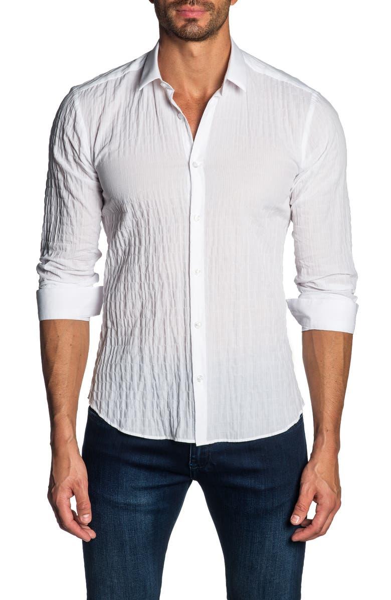 JARED LANG Slim Fit Shirt, Main, color, 100
