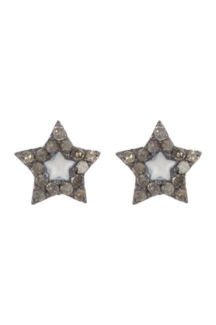 Image of ADORNIA Fine Diamond Star Studded Earrings - 0.15 ctw