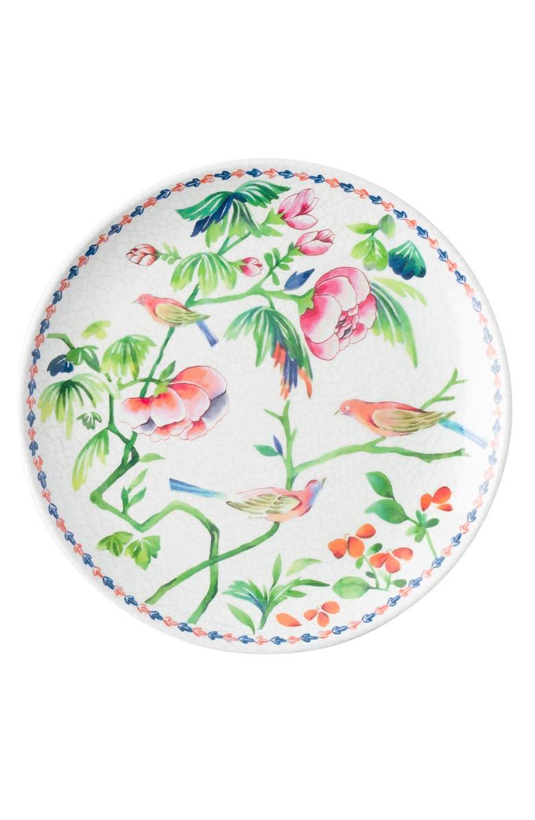 JULISKA Lalana Floral Melamine Dessert Plate, Main, color, WHITE MULTI