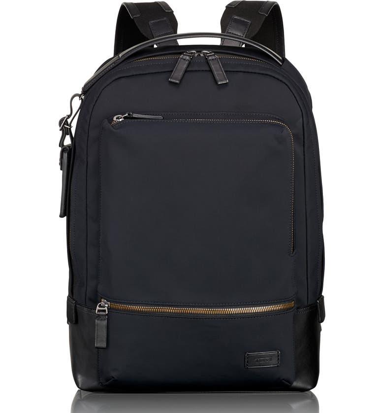 TUMI Harrison Bates Backpack, Main, color, BLACK NYLON