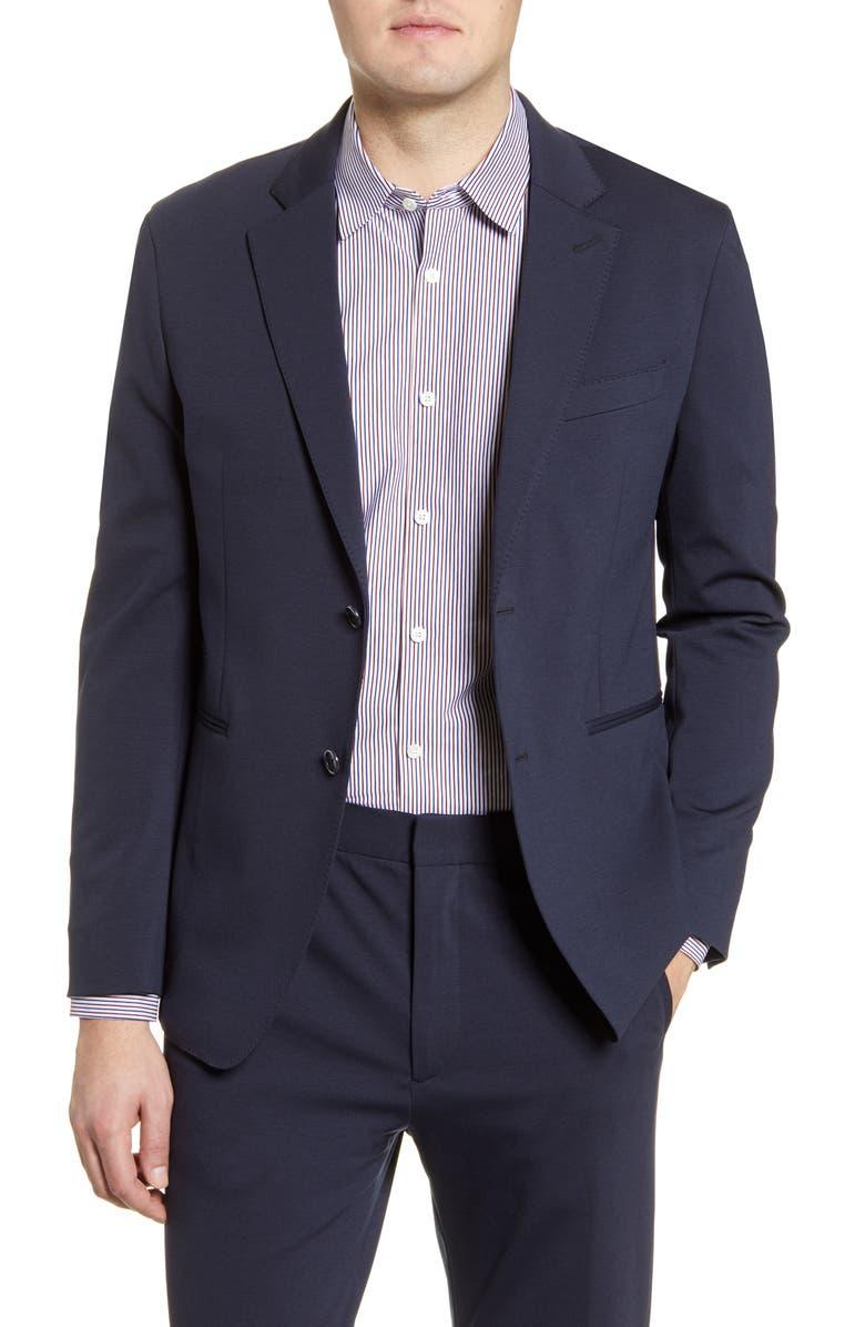 BUGATCHI Regular Fit Solid Stretch Cotton Blend Blazer, Main, color, MIDNIGHT