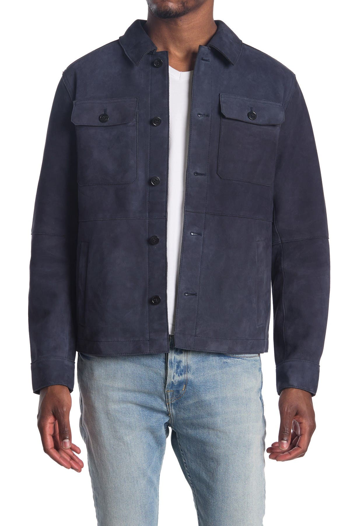 Image of Michael Kors Suede Shirt Jacket