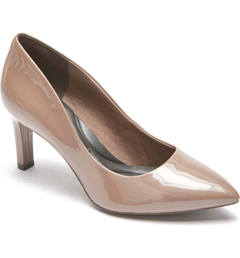 ROCKPORT Total Motion Luxe Valerie Pump, Main, color, TAUPE/ GREY PATENT LEATHER