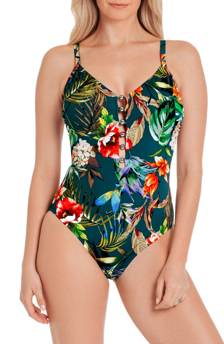 MAGICSUIT<SUP>®</SUP> Serenity Stella One-Piece Swimsuit, Main, color, BLK/MLT