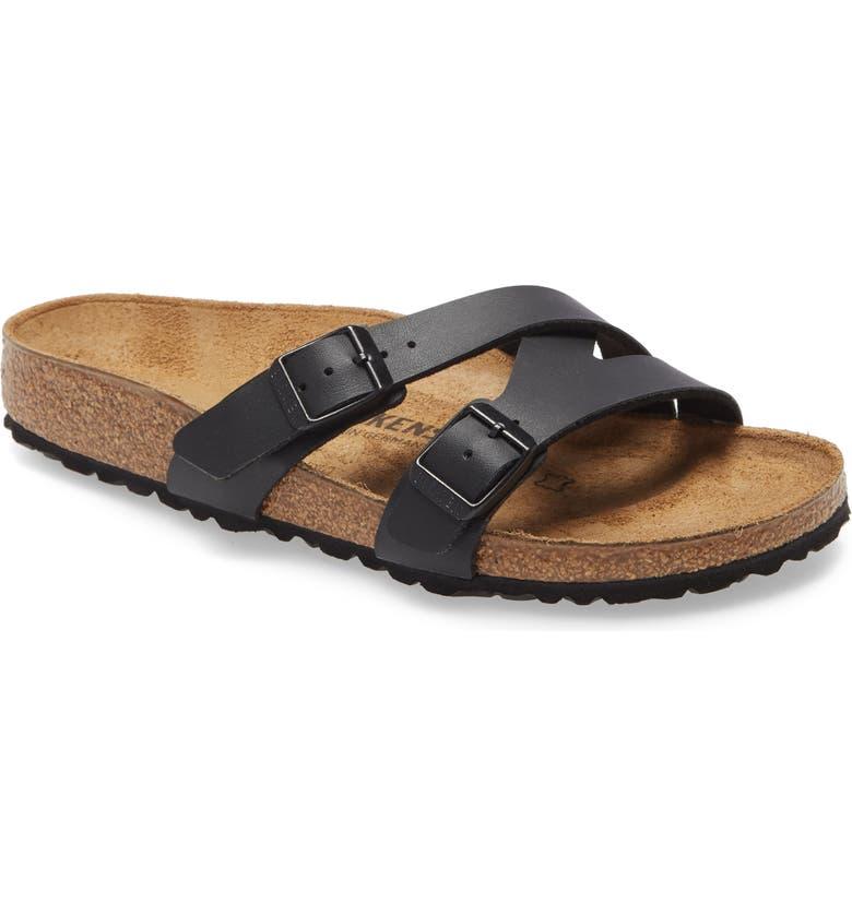 BIRKENSTOCK Yao Slide Sandal, Main, color, NEW BLACK